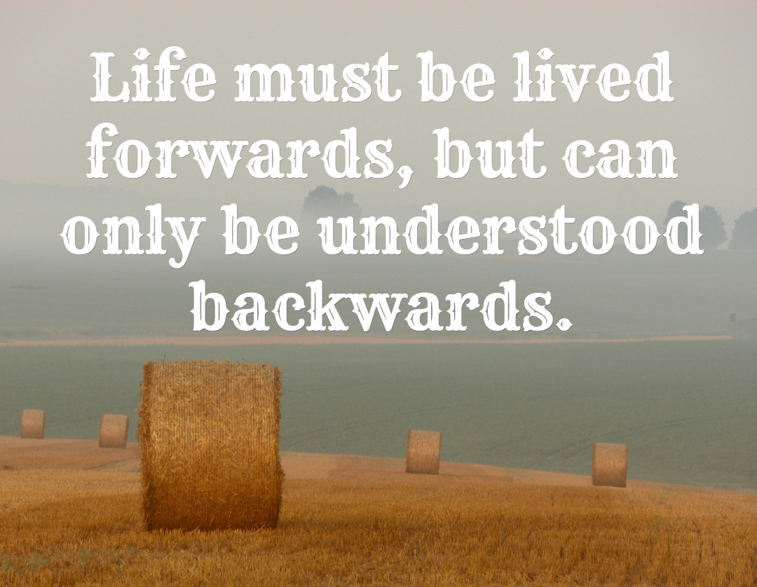 life can only be understood backwards Life can only be understood backwards but it must be lived forwards backwards forwards life lived picture quote saying understood avoiding the bruises.
