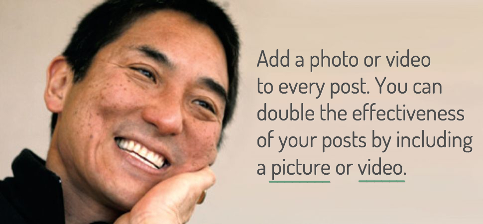 Add a photo for better social media presence
