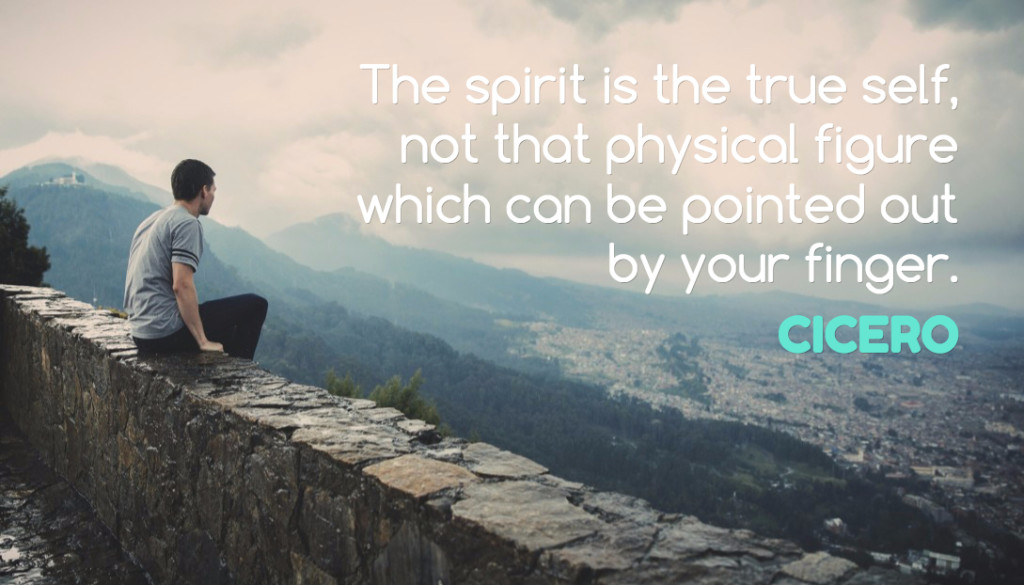 The spirit is the true self, not that phyiscal figure which can be pointed out by your fiinger
