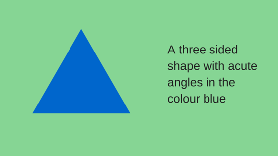 A three sidedshape in thecolour blue (1)