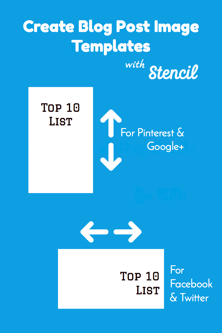 Create Blog Post Image Templates with Stencil