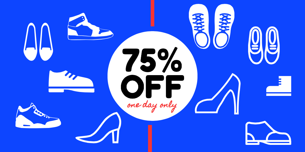 Create a shoe sale image for social media on Stencil