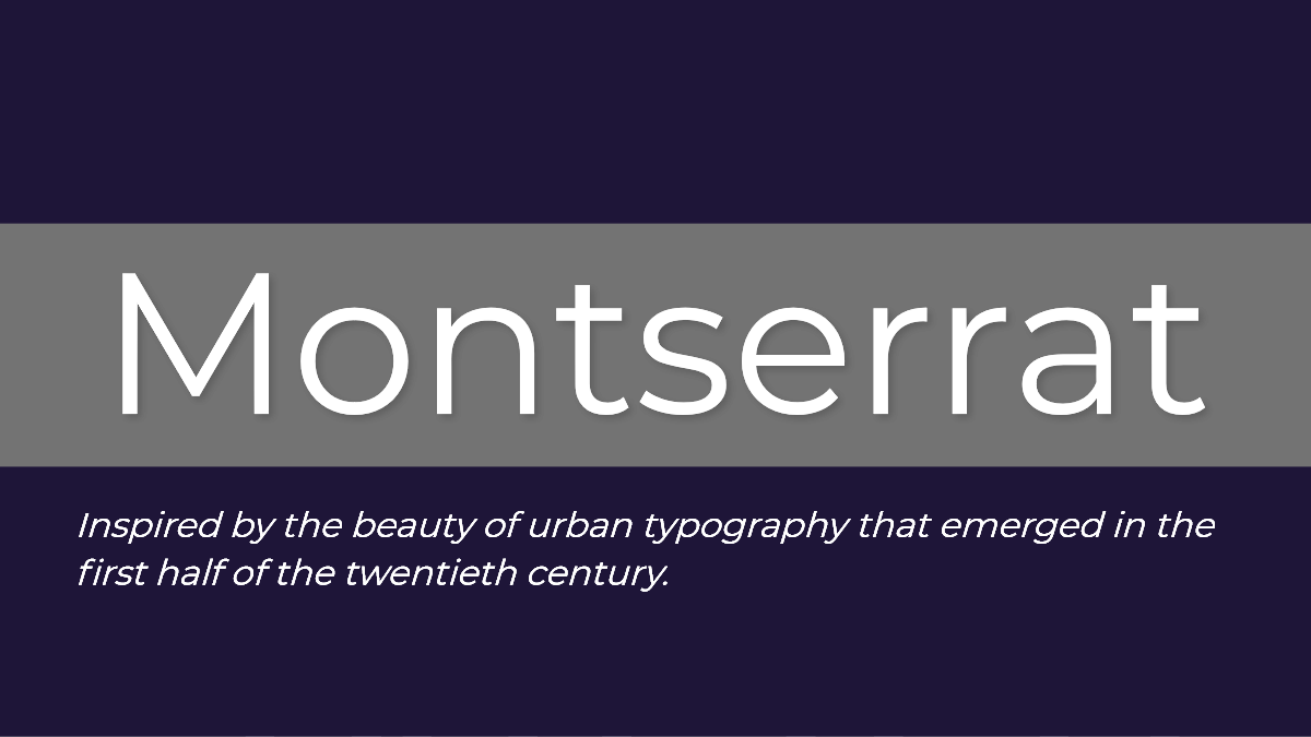 Monterrat typeface is inspired by urban typography of Buenos Aires, Argentina.