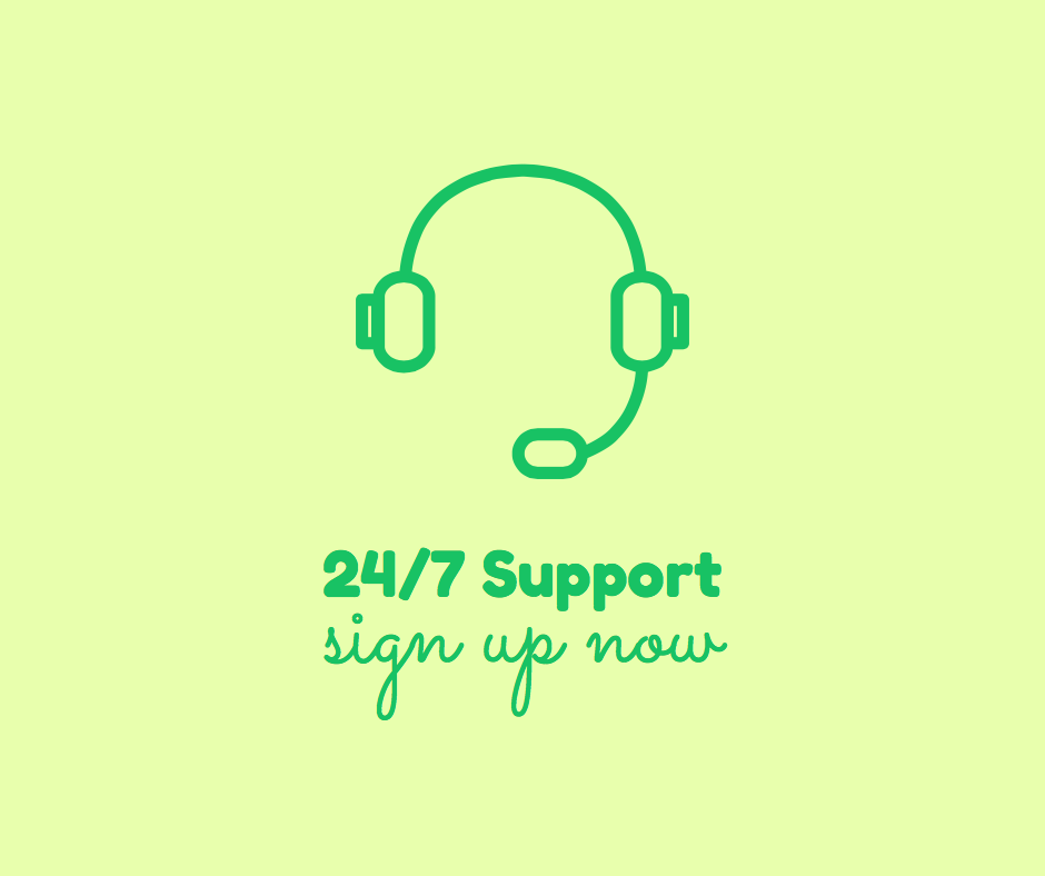 headset 24:7 support icon in Stencil