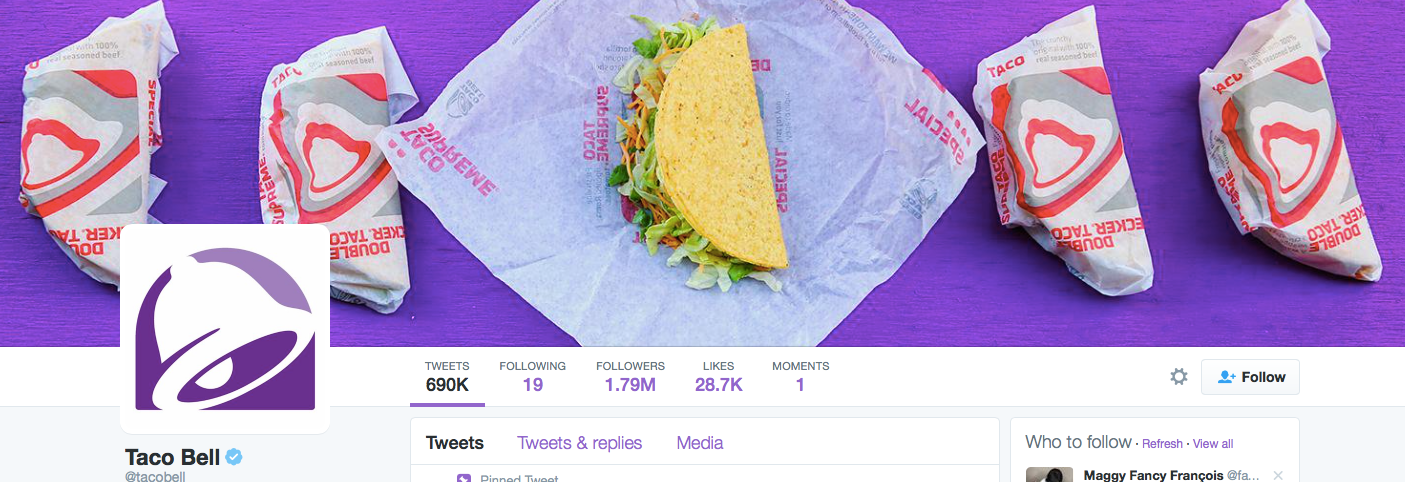 Taco Bell Twitter Cover