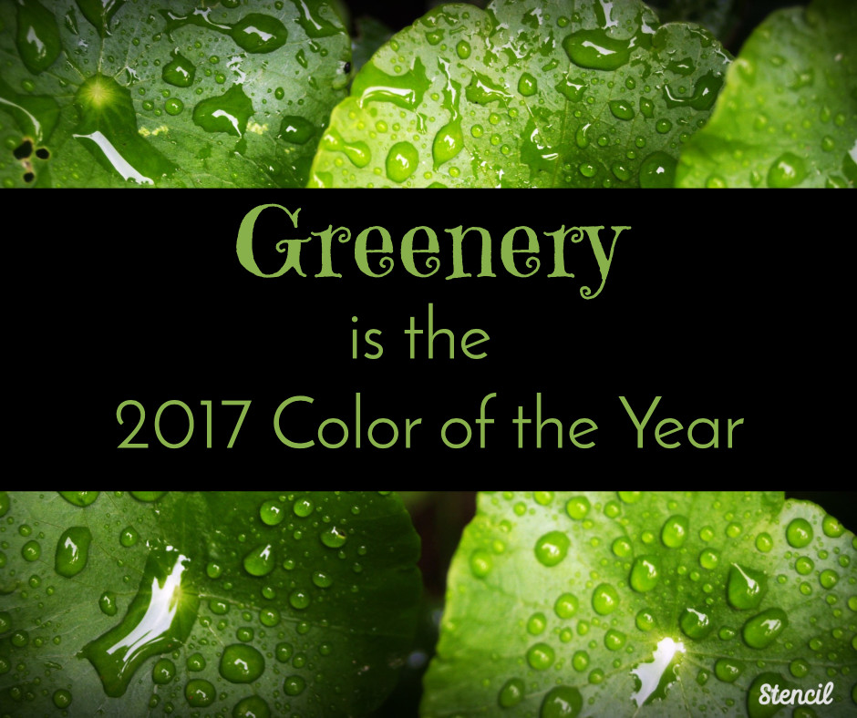 greenery is the 2017 color of the year