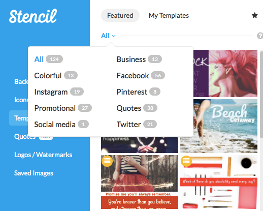 Categories of templates in Stencil