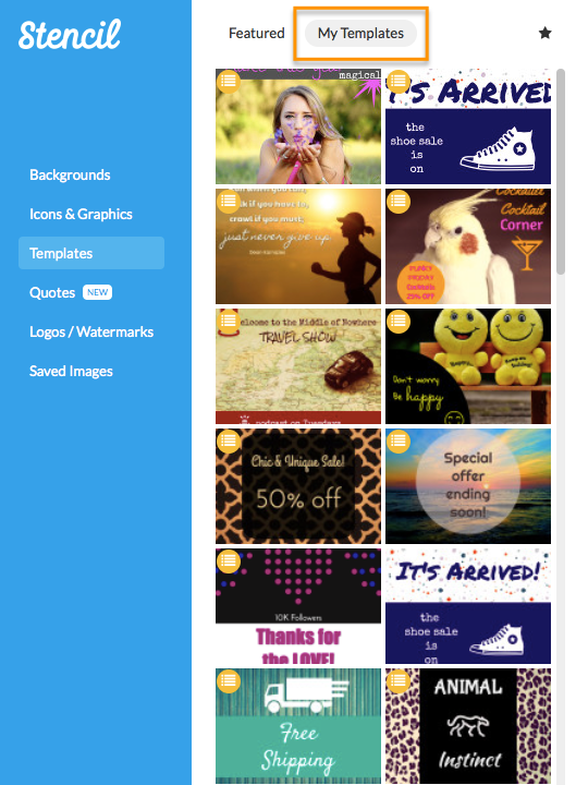 Social media graphics made easy with templates plus updates my templates section in stencil pronofoot35fo Image collections