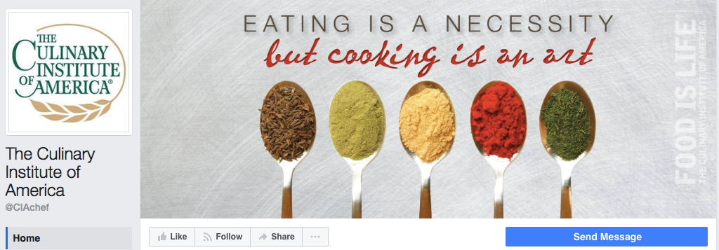 Culinary Institute of America Facebook Page