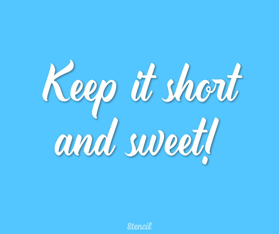 Keep it short and sweet in regards to text on social media images.