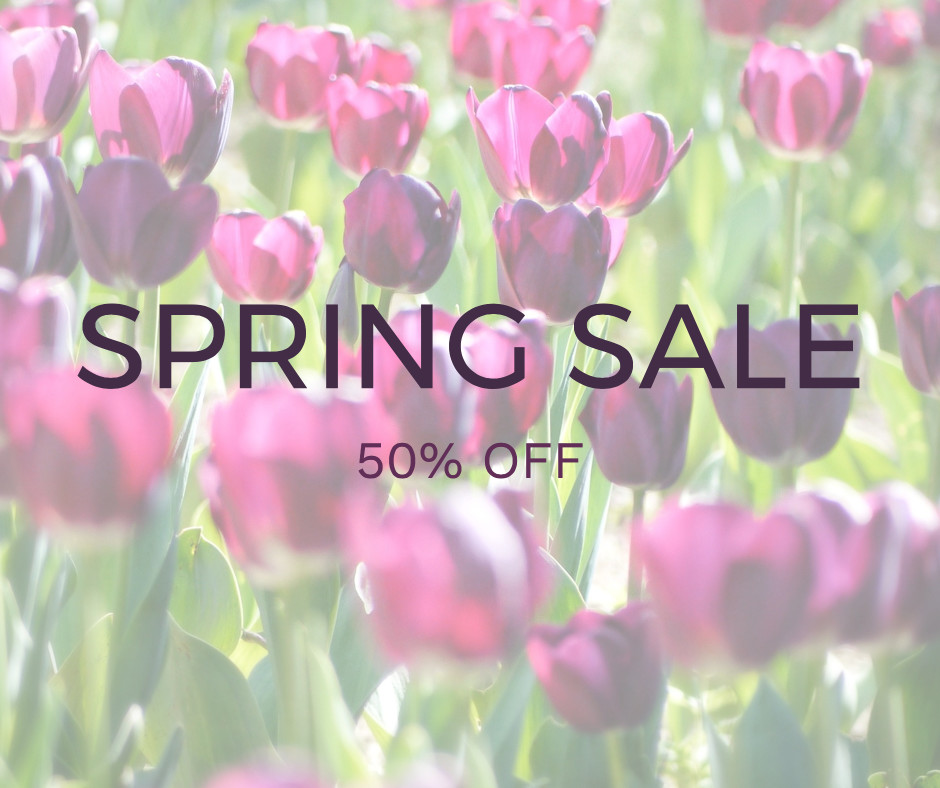 Spring Sale Example with Monteserrat and Work Sans fonts