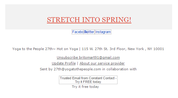 stretch into spring