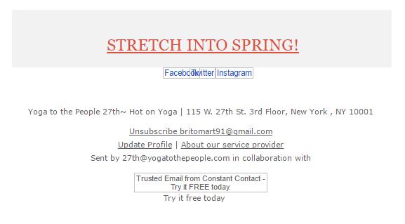 stretch into spring