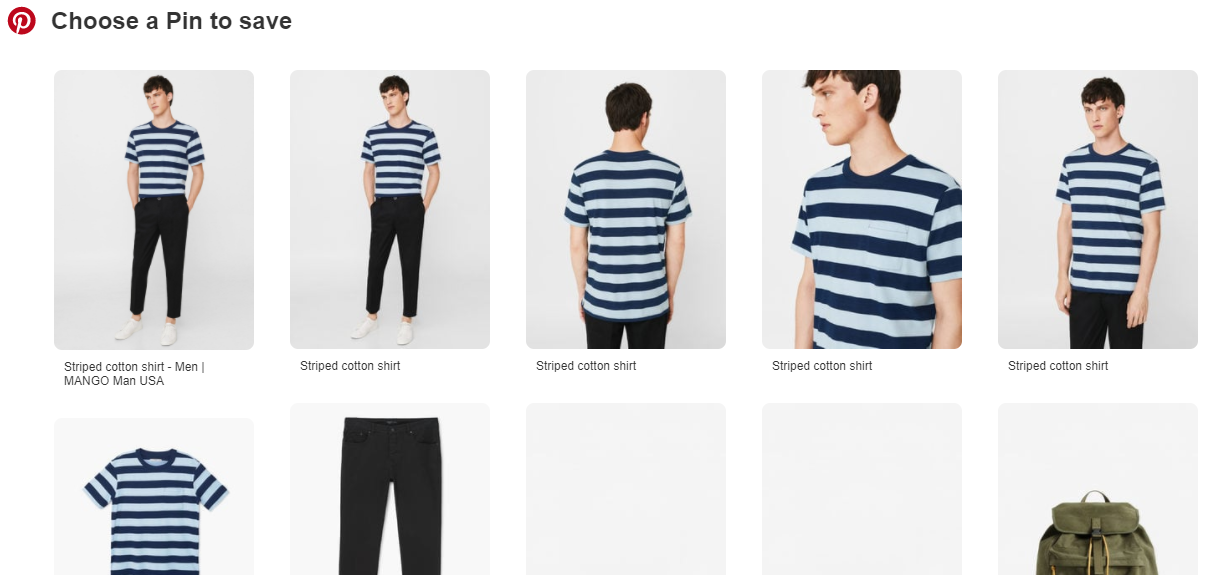 use pinterest optimized tall images on your ecommerce sites