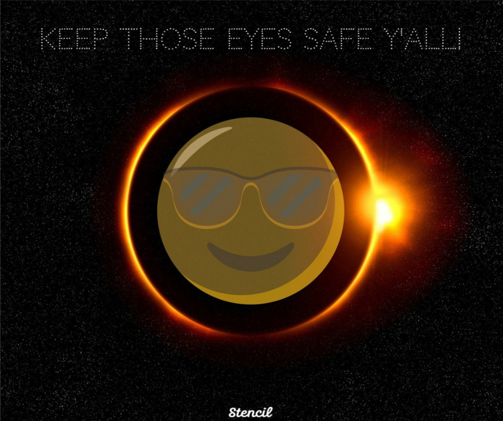 Keep those eyes safe y'all! #SolarEclipse2017