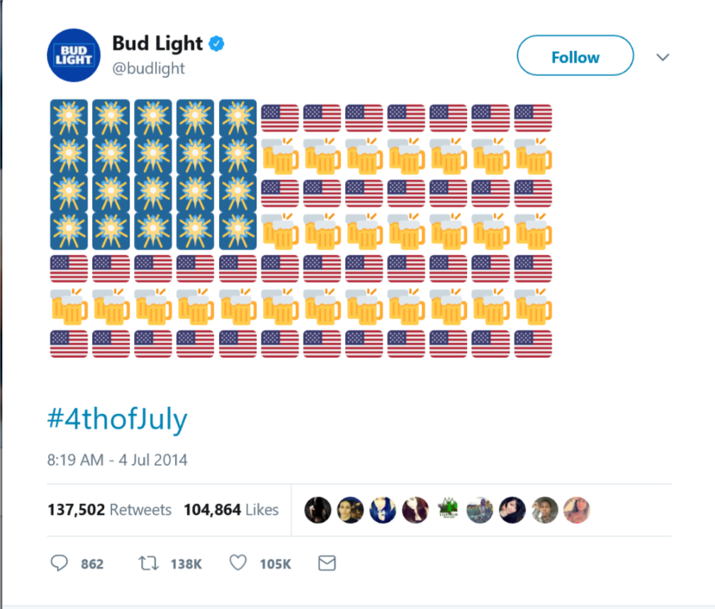 bud light fourth of july emoji campaign