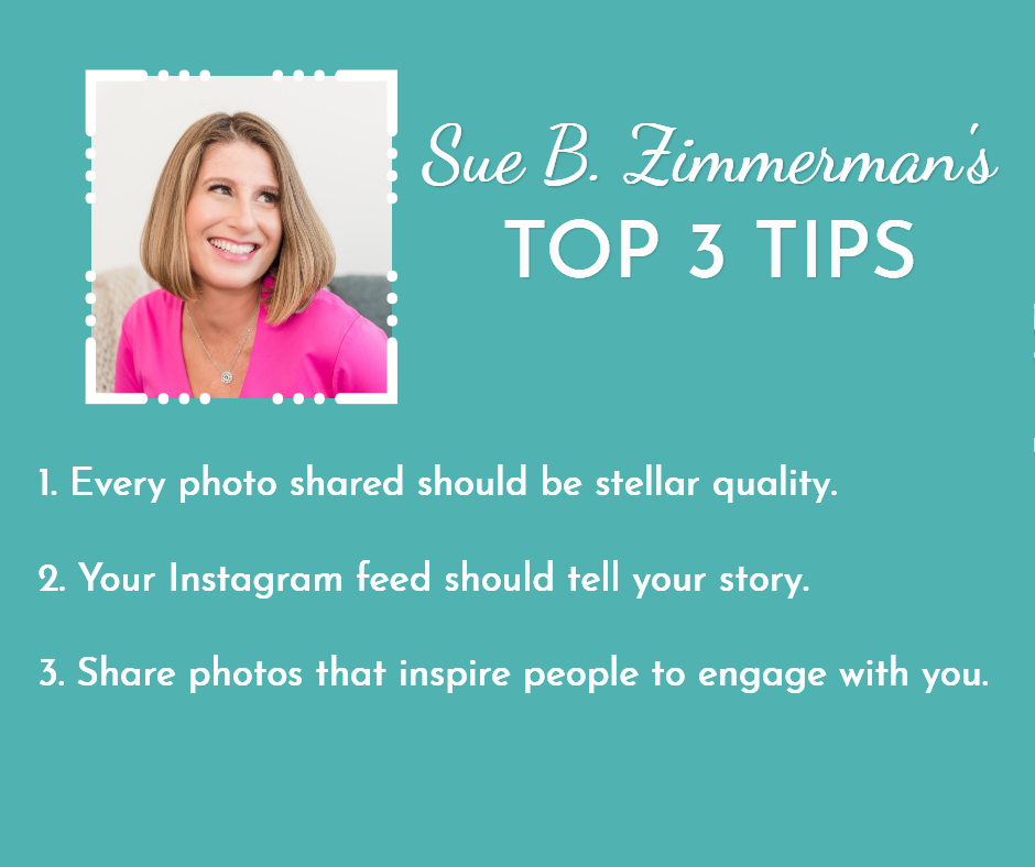 Sue B. Zimmerman's Top 3 Visual Marketing Tips