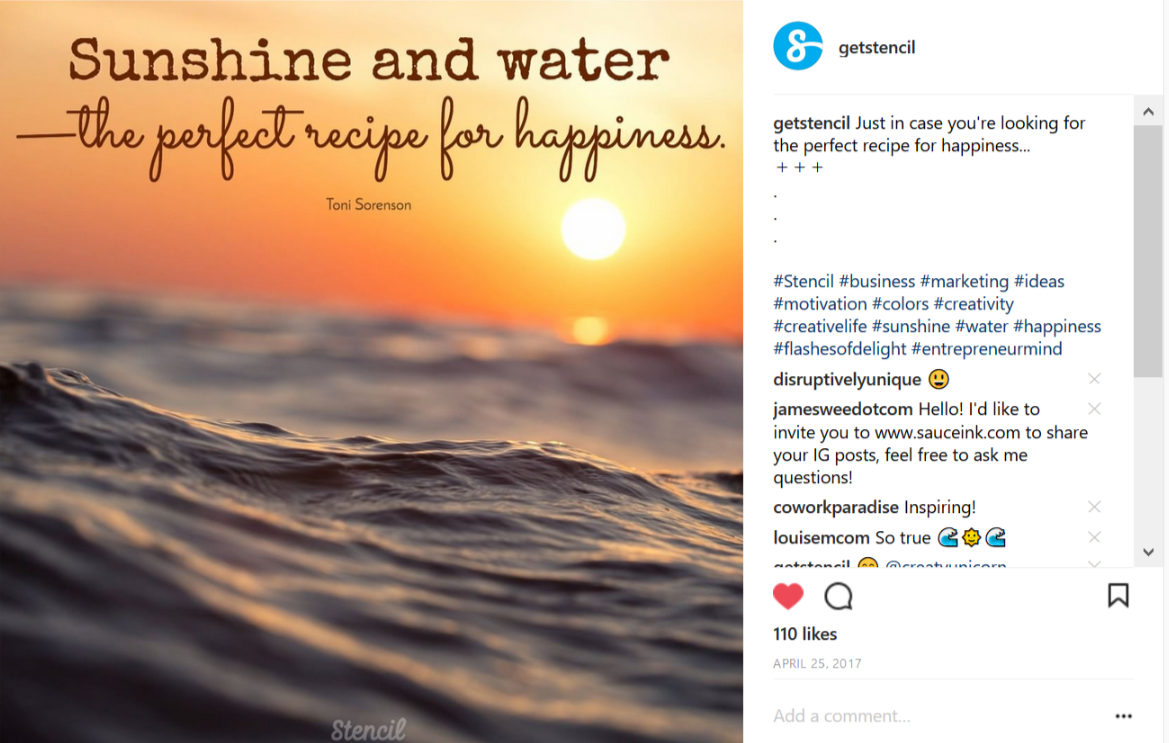 Sunshine and water is the perfect recipe for happiness. - Instagram shot