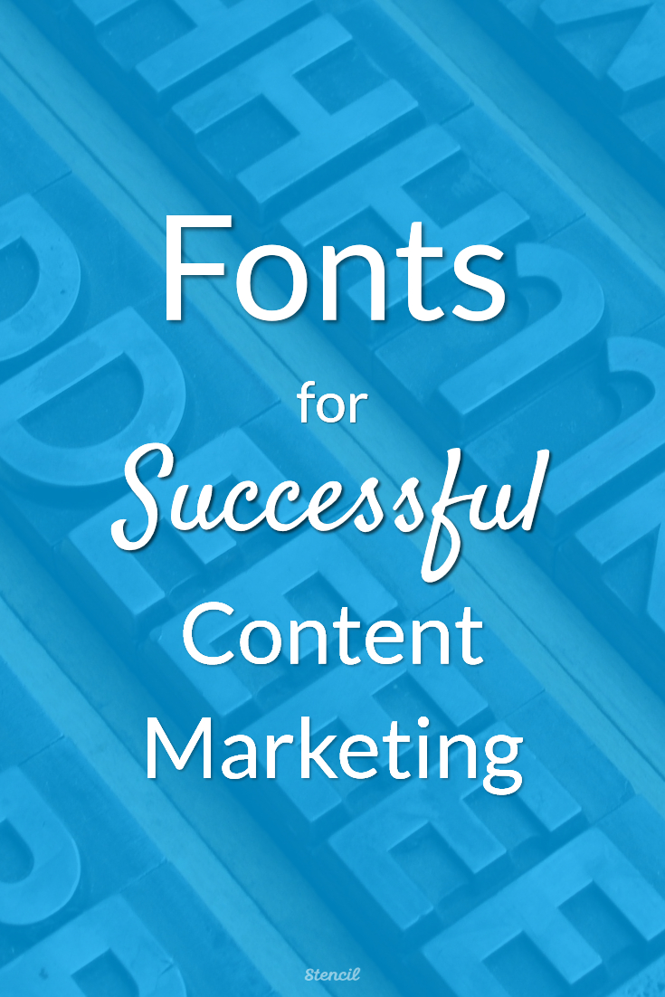 Fonts for Successful Content Marketing #font #visualcontent