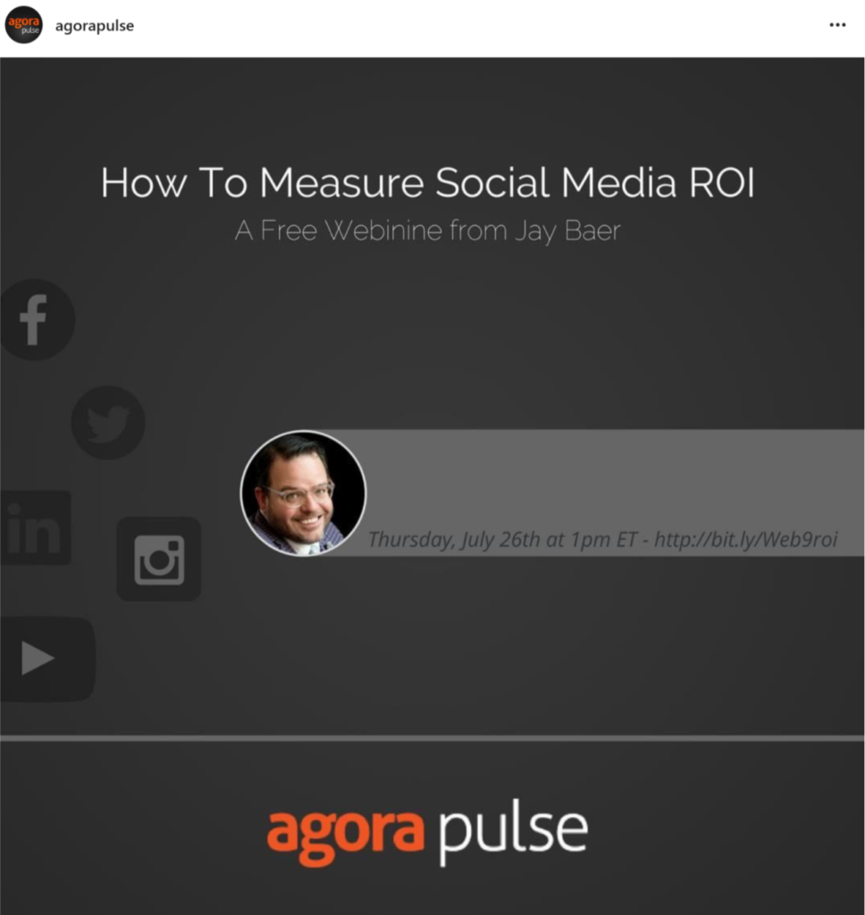 Agorapulse webinar with Jay Baer