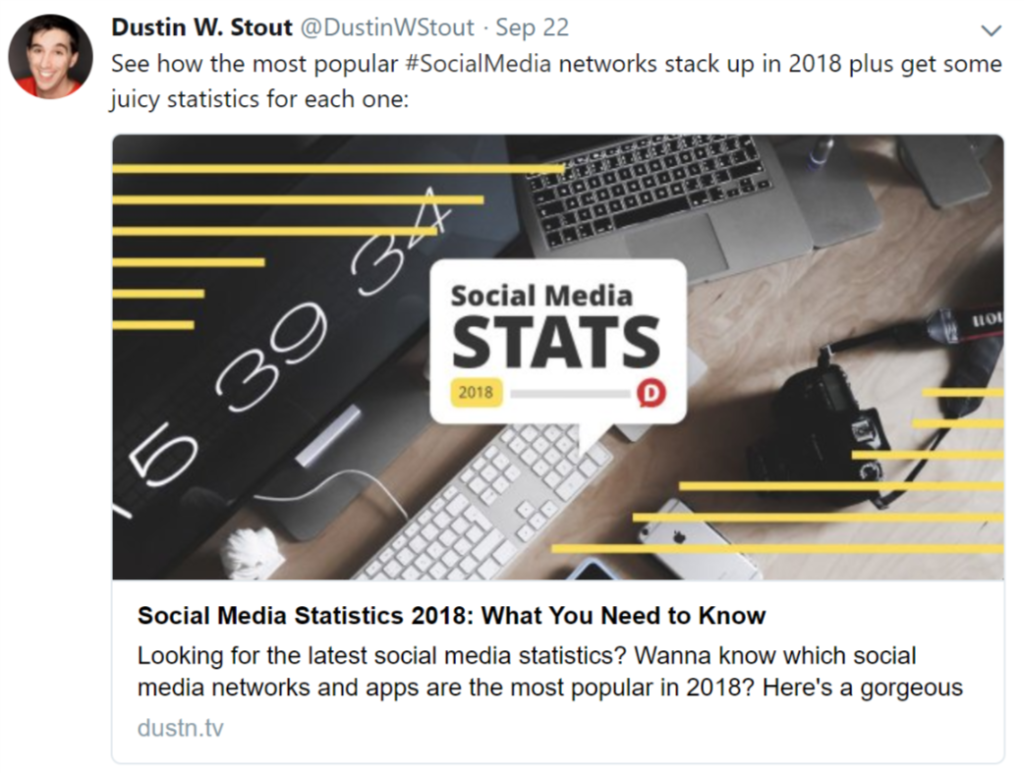 Dustin Stout tweet - usage of icons in his stock photo image.