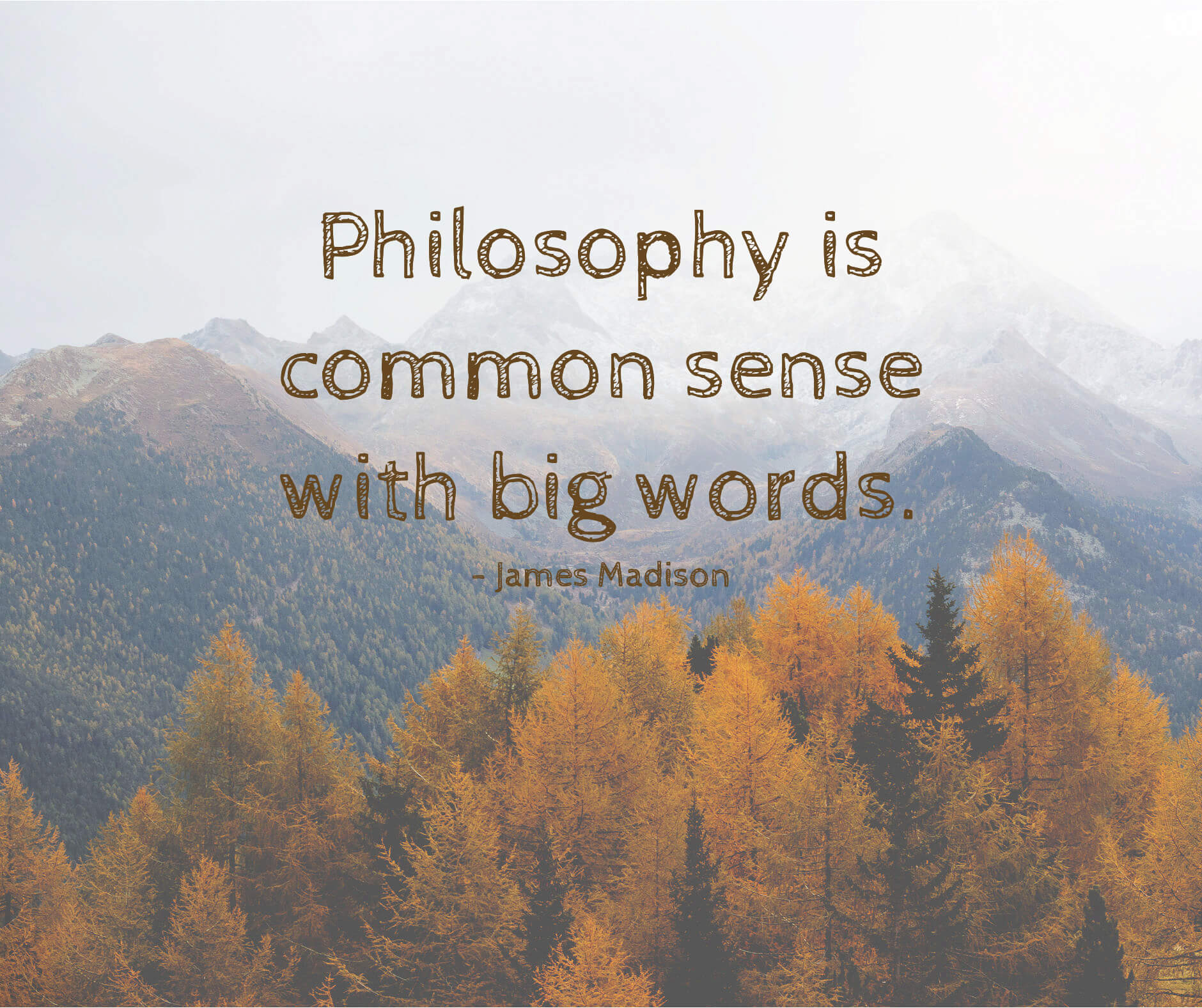 Philosophy is common sense with big words.
