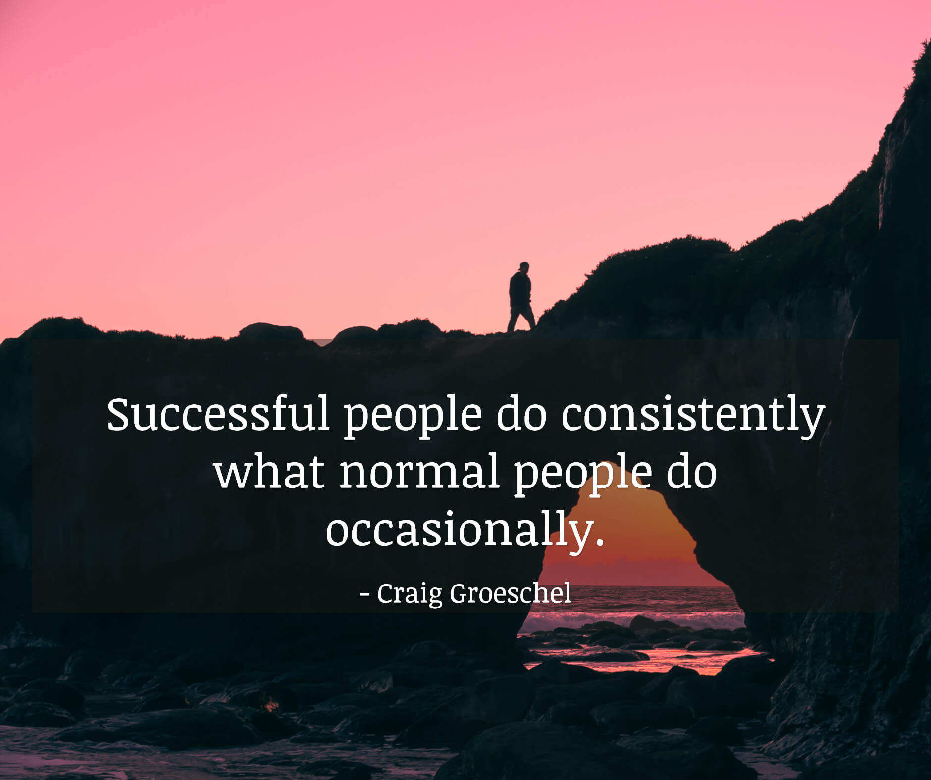 Successful people do consistently what normal people do occasionally.