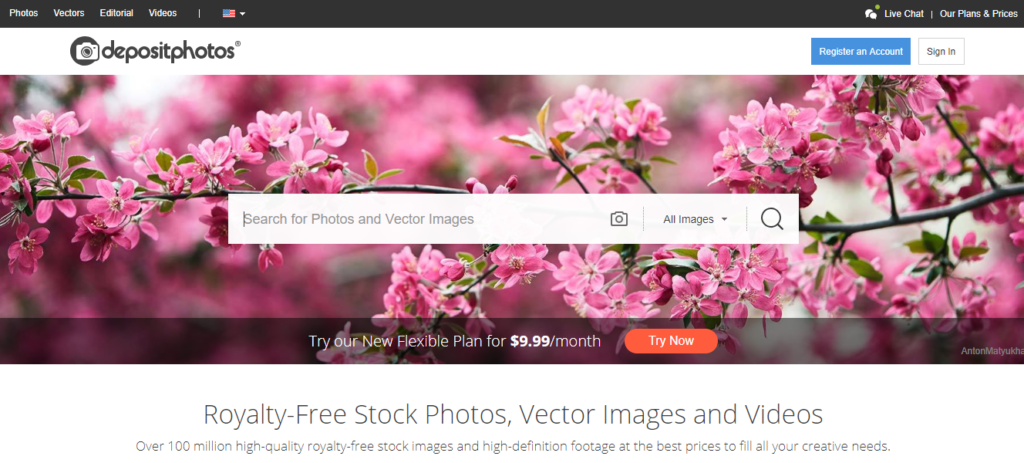 depositphotos is a premium stock photo site