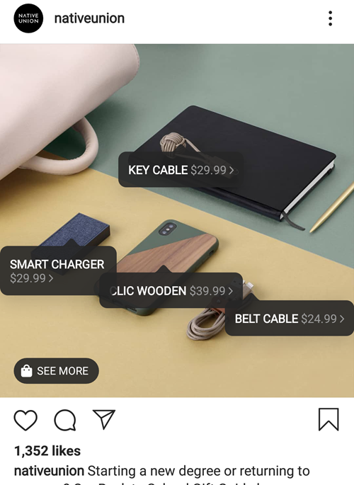 instagram shoppable posts example