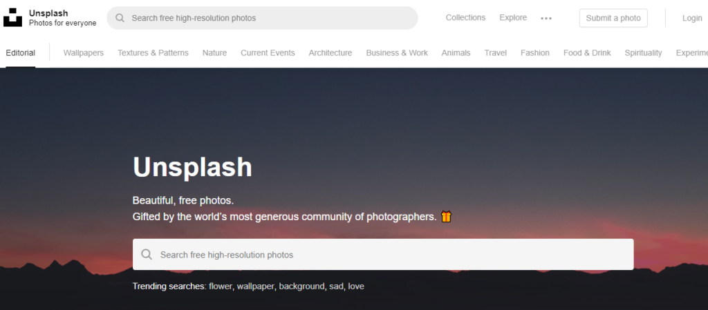 unsplash is another stock photo site