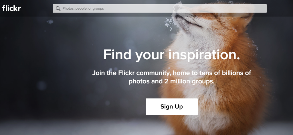 use flickr to find stock photos