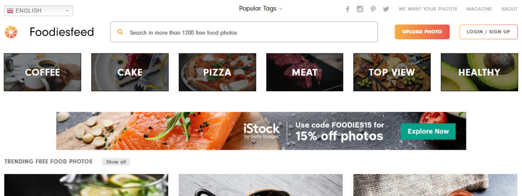 use foodies feed for your food blog