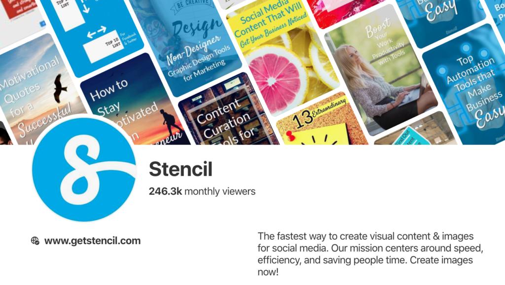 Stencil Pinterest profile