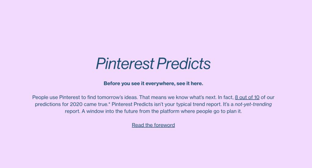 Pinterest Predicts