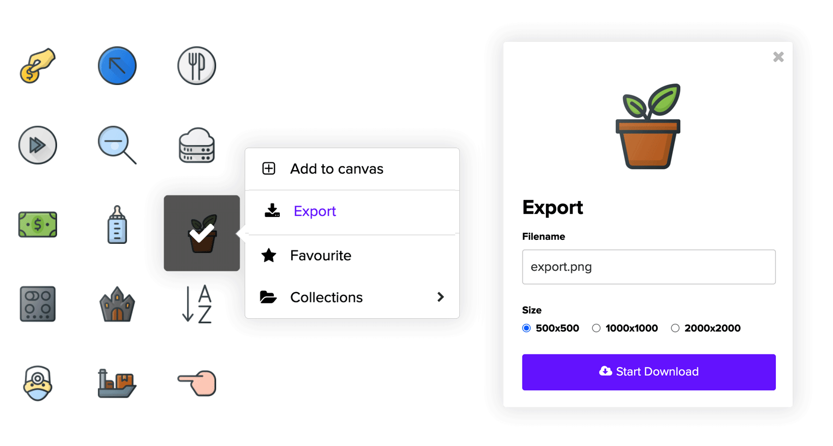 Export Icons