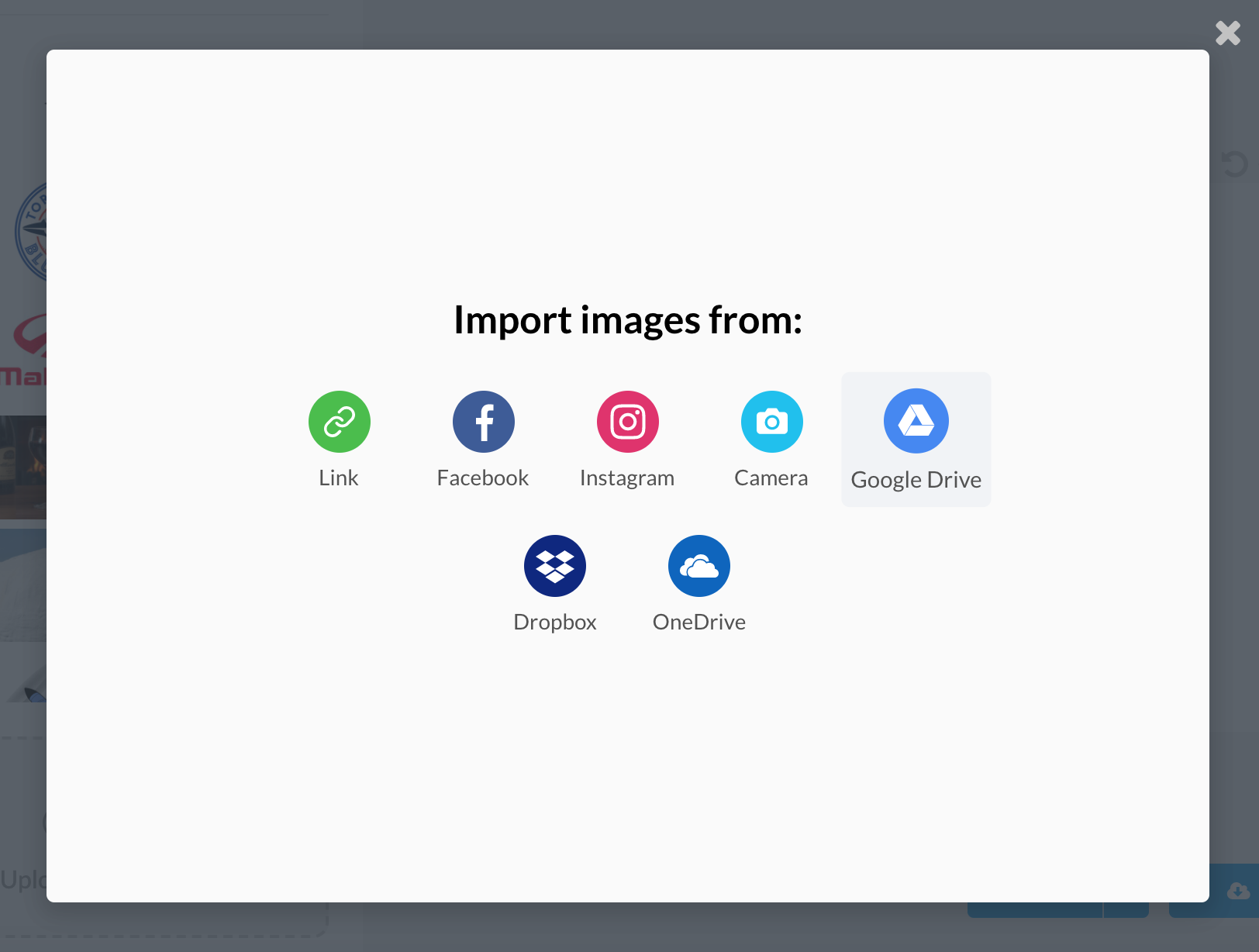 Choose the Google Drive Importer