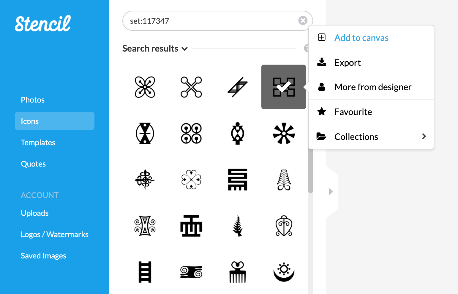 Sample The Noun Project Set Search