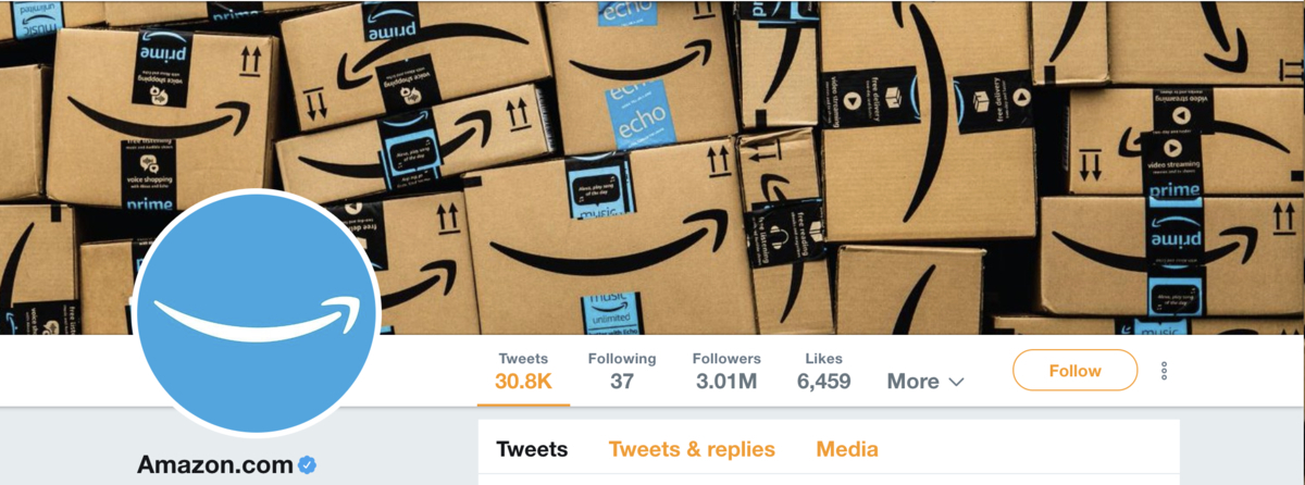 Twitter Header Amazon Example