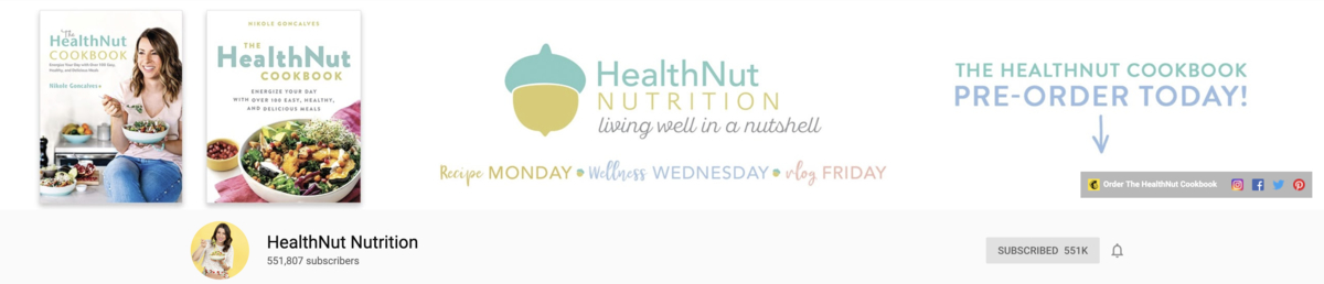 YouTube Channel Art HealthNut Example